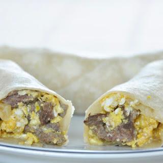 Steak and Egg Breakfast Burritos