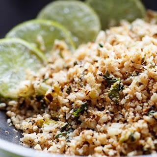 Cilantro Lime Cauliflower Rice.
