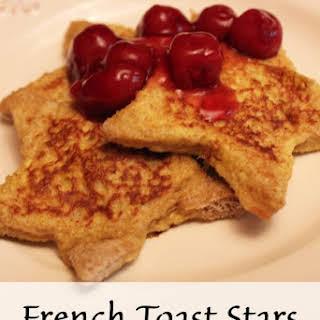 French Toast Stars Breakfast.
