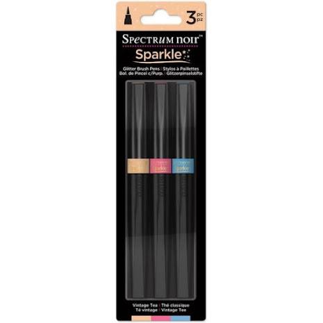 Spectrum Noir Sparkle Pens 3/Pkg - Vintage Tea UTGÅENDE