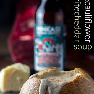 Ale, Cauliflower, & White Cheddar Soup