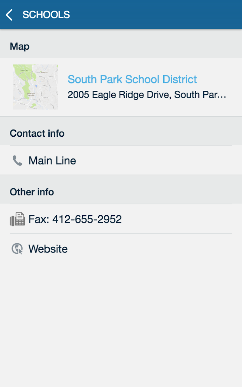 Скриншот South Park School District
