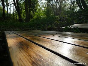 Photo: Auf diesen Brettern werden wir gehen, Bodenbretter des Stocherkahns.