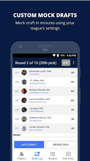 Fantasy Football Draft Wizard (NFL 2017) screenshot 1