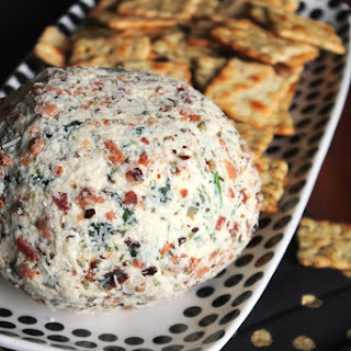 SPINACH ARTICHOKE GOAT CHEESE BALL