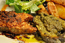 Baked Fish in Green Masala