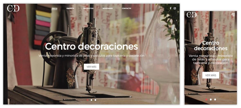 Sitio web Centro Decoraciones
