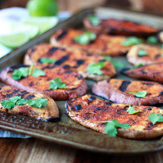Smoky Grilled Sweet Potatoes with Cilantro & Lime Recipe