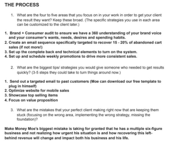 client avatar process
