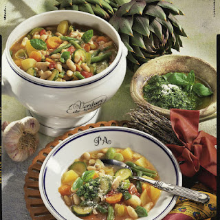 Soupe au Pistou - Provençal Vegetable Soup with Herb Puree.