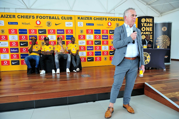 New Kaizer Chiefs technical adviser Rob Hutting addresses the media during yesterday's press session.
