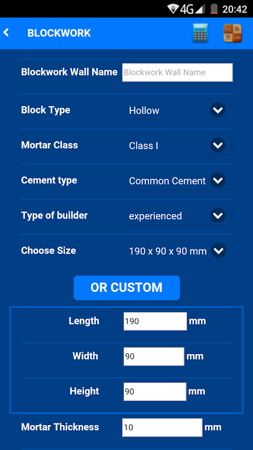 Civil Quantity Estimator- screenshot
