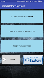 UpdatePlayServices - náhled
