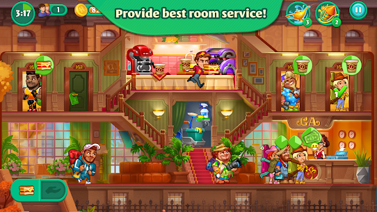 Grand Hotel Mania MOD APK 1.8.5.1 [Unlimited Coins, Gems] 3