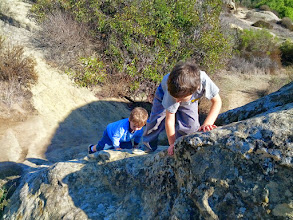 Photo: Clark and Finn Rock Climbing