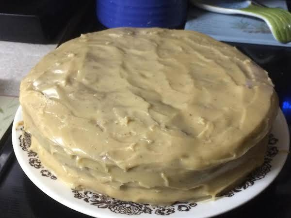 Excellent Cake..used My Own Home Made Mincemeat..:) Yum..was Skeptical On The Caramel Frosting.never Attempted It..next Time Will Make A Little More..:) Although It Doesn't Need More In The Middle..lol..but I Had To Use 9  Pans And Cook 35 Min Instead 45