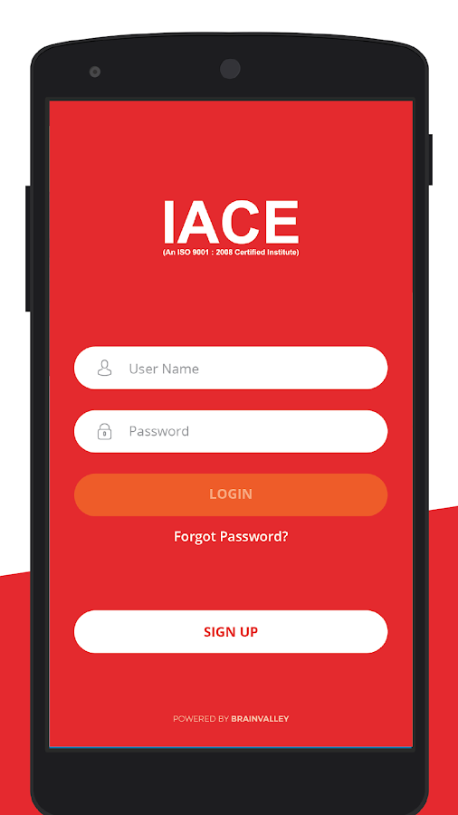 IACE Mobile App- screenshot