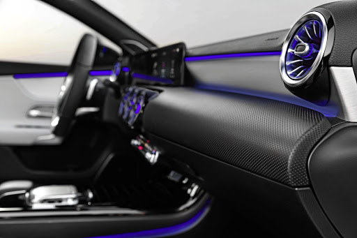 Ambient lighting will even feature in the air vents, which come from the E-Class coupe.   Picture: DAIMLER
