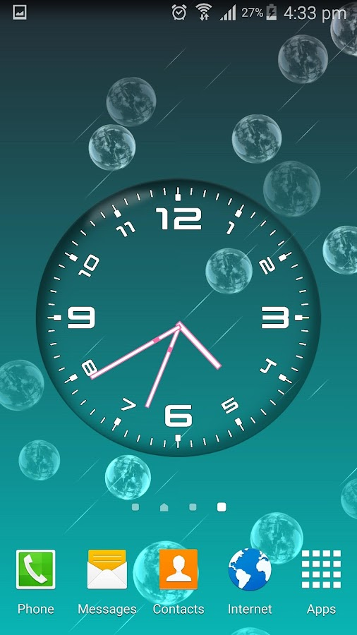 Bubble Clock Live Wallpaper Android Apps on Google Play