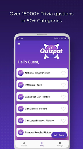 QuizPot: Multiplayer General knowledge Quiz Trivia android2mod screenshots 2