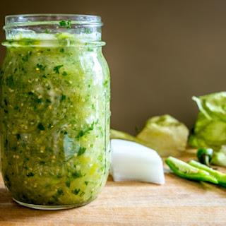 Tomatillo-Serrano Sauce (Salsa Verde) Step-by-Step