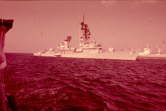 Photo: USS Charles F Adams, at anchor, take from the water taxi 1977
