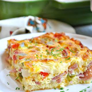 Baked Western Omelet.