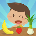 Learn fruits and vegetables - games for kids icon