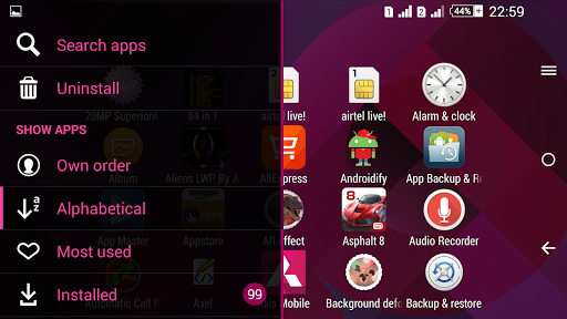 Pattern Pink Xperien Theme screenshot 7