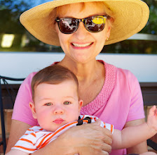 Photo: Everett and Marilyn fell right back in stride together, content as can be in Grandma's arms.