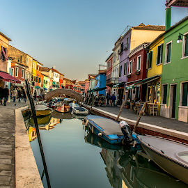 Colourful Burano by Hariharan Venkatakrishnan - City,  Street & Park  Street Scenes