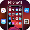 iLauncher Phone 11 Max Pro OS 13 Black Theme icon