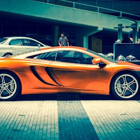 Fast Citrus. by Michael Tan - Transportation Automobiles ( fastcars, supercar, rich, mclaren, millionaires )