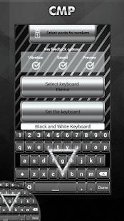 Černá A Bílá Klávesnice - náhled