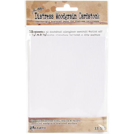 Tim Holtz Distress Cardstock 12 Sheets - Woodgrain Surface