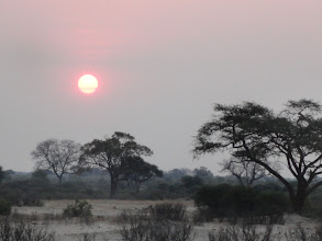 Photo: The sun going down at Hwange
