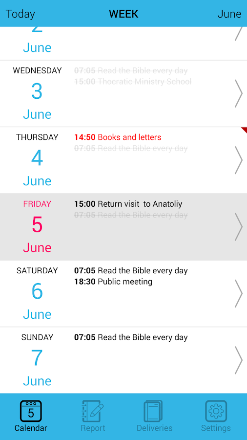 XPlanner- screenshot
