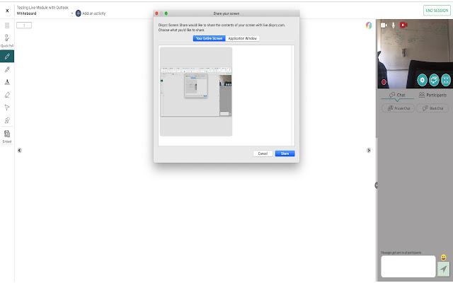 Disprz Screen Share
