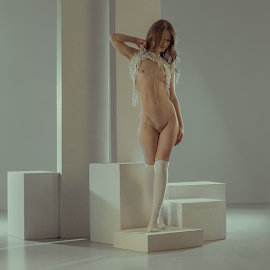 esthetics by Dmitry Laudin - Nudes & Boudoir Artistic Nude ( studio, beauty, light, nude, girl, posing )
