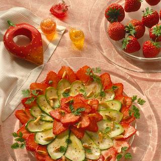 Erdbeer-Zucchini-Carpaccio