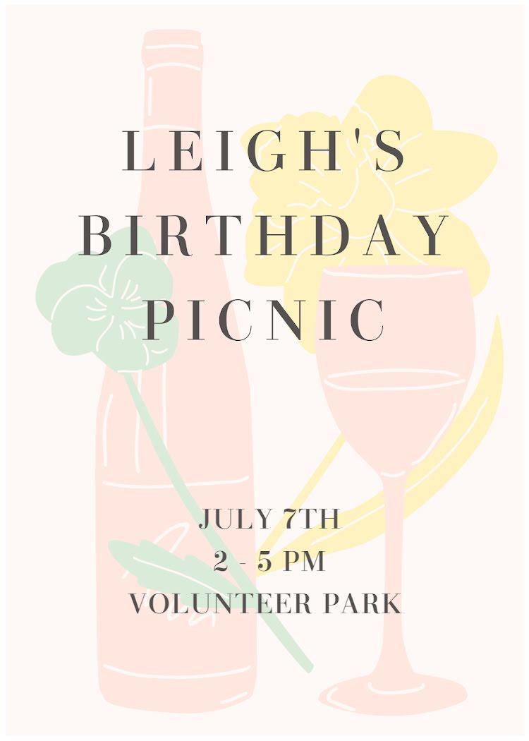 Leigh's 27th Birthday - Birthday Card Template