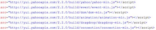 Yahoo! UI hosting sample code