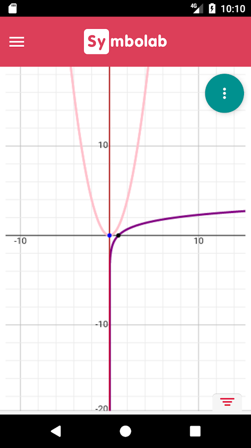 Symbolab Graphing Calculator- screenshot