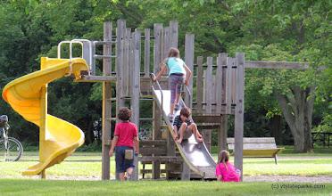 Photo: Children enjoying the playground at Grand Isle State Park by Aswini Cherukuri