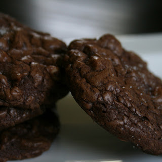 Salted Triple Chocolate Brownie Cookies