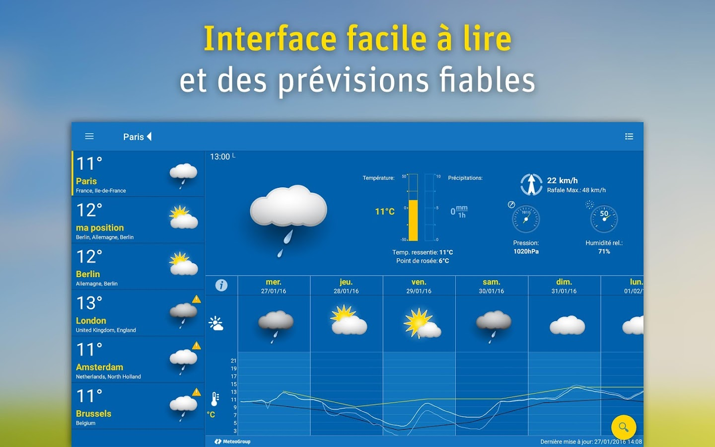 WeatherPro – Capture d'écran