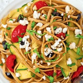 Mediterranean Zucchini Linguine