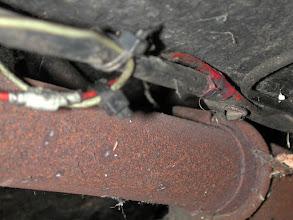 Photo: Brandursache? Abzweig vom Batterieplus ohne Sicherung!!