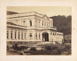 Photo: Palácio Imperial, residência de verão da Família Imperial brasileira. Foto da década de 1860