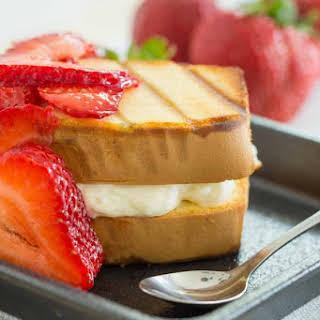 Grilled Strawberry Cheesecake Sandwich.